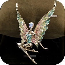 18k rose gold gp made with swarovski crystal luxury brooch butterfly fairy wings