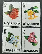 SINGAPORE 1980 FLOWERS OF SINGAPORE SG 392-395 MNH FRESH