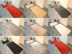 Large Size Luxury Shiny Sparkling 2 Piece Bath Mat Sets Non Slip Bathroom Rugs
