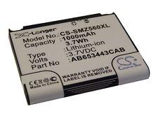 BATTERIA VHBW 1000mAh PER SAMSUNG SGH-Z560, SGH-Z560V, SGH-Z568, Solstice