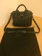 Auth Alexander Wang Rockie Rocco Barrel Bag Black Fabric Silver HW