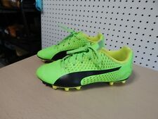 Youth Puma soccer cleats shoes - size 4C - lime green