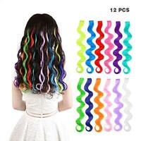 Fashion Party Hair Accessory Girls Colorful Hair Clip in Extensions for Kids