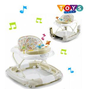 Walk n Rock Musical Baby Walker Rocker Chair With Interactive Musical Play New