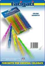 Confezione 30 Pezzi Forchettine Forchette Colorate Plastica Per Cocktail dfh