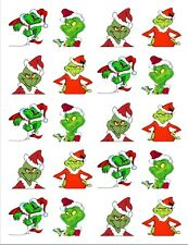 "20  2"" x2"" Glossy Square Stickers/Seals Grinch Christmas Buy 3 get 1 free(s103)"