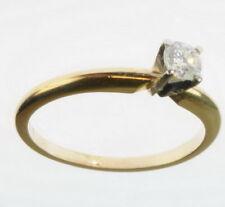 Ladies 14K Yellow Gold 1/4 CT Diamond Solitaire Engagement Estate Ring 77298