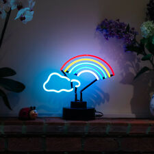 Neon Sign Table Lamp Party Light Beer Bar Club Desk RAINBOW SCULPTURE Display