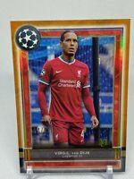 2020-21 Topps Museum UEFA Champions #63 Virgil Van Dijk Copper /99 Liverpool