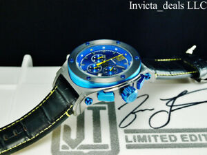 Invicta Men's 53mm JT Chronograph BLUE DIAL Limited Edition Blue/Yellow SS Watch