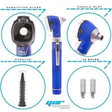YNR Blue Mini Pocket Otoscope Fibre Optic Medical Examination NHS GP CE Approved