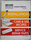 Sears Kenmore Electric Range Model 95989 Owner's Manual 1988 Vintage Kitchen photo