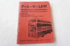 More details for 1963 psv law for drivers & conductors bus rule book