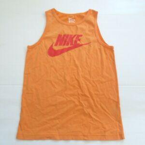 Nike Boys Futura Icon Tank Shirt - 807343 - Orange 868 - Size L - NWD
