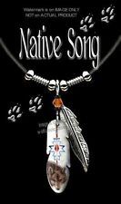 NATIVE SONG WOLF NECKLACE for MALE or FEMALE WILD WOLVES ART SALE FREE SHIP 24L*
