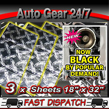 "3x 18""x32"" Dynamat Xtreme Sound Proofing Deadening Van Car Trunk Boot Door Sheet"