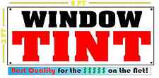 WINDOW TINT Banner Sign NEW 4 Car Truck SUV Van Repair Tire Shop rims wheels