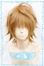 522 samumenco Samurai Flamenco Masayoshi Hazama Short Blond Brown Cosplay Wig