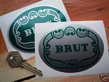 "BRUT 33 70's Herron SUZUKI Motorcycle Racing Stickers 4"" Pair Aftershave Sponsor"