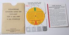 Kodak Kodachrome Daylight 8mm 16mm Exposure Guide - Kodaguide White - VINTAGE B3