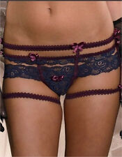 Victorian Style Black Lace Garter Belt Look Sexy Hot Panty One Size Fits Most