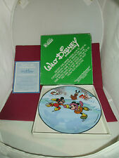 Walt Disney Production Characters Command Performance 1984 Collector Plate w Box