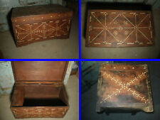 Ancien Coffre de Mariage , Rajasthan ,  Inde
