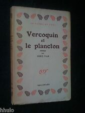 Boris Vian  E/O mention 2nde Vercoquin et le Plancton 1946