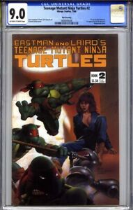 TEENAGE MUTANT NINJA TURTLES #2 CGC 9.0 (3rd print) Richard Corben cover 1986