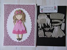 Craft Metal Die compatible with Cuttlebug or Sizzix - Girl with Long Hair