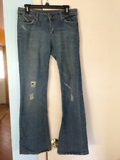 Junior's Bongo Distressed Acid Washed Jeans in Size 9