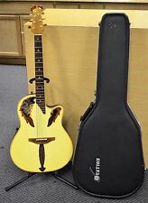 1990 Ovation 1868 Elite Ash Shallow Bowl Acoustic Electric Guitar w/ Hard Case