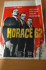 CHARLES AZNAVOUR N JEAN-LOUIS TRINTIGNANT HORACE 62 1962 AFFICHE ORIGINALE