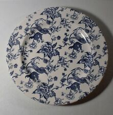 "2 Staffordshire Engraving BIRD OF PARADISE 10-5/8"" Dinner Plates"