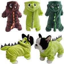Pet Winter Jacket Warm Clothes Dog Puppy Dinosaur Halloween Costume Hooded Coat
