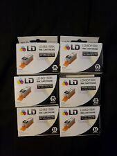 LD Ink LD-BCI15BK 6 Pack Printer Ink for Canon i70