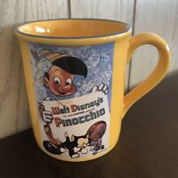 Pre-Owned Large Yellow Walt Disney Store Pinocchio Coffee Mug Cup-Jiminy Cricket