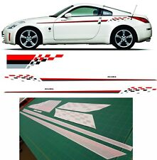 Nissan 300 350z GTR Skyline S14 200SX Nismo Side bonnet Stripes Decals Graphics