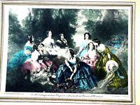 Franz Winterhalter Print L'Imperatrice Eugenie Entouree de ses Dames d'honneur