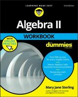 Algebra II  for Dummies, Paperback by Sterling, Mary Jane, Brand New, Free P&...