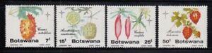 BOTSWANA Fruits & Cucumbers CHRISTMAS 1985 MNH set