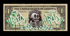 Street art-Dollar art / Real Original hand made Dollar customized by BAD CED