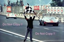 Jacky Ickx & Jackie Oliver JWA Gulf GT40 Winners Le Mans 1969 Photograph 2