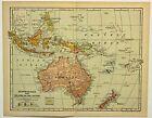 PACIFIC ISLANDS, AUSTRALIA  Antique original map 1902