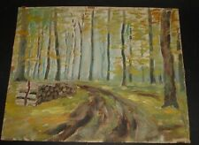 Ernst Troch,Forst-Weg Öl/Spezialpapier, 36x44 163/19066