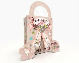 Personalised TeePee Sleepover Party Bag Gift Favour Box Treat Bag Pretty Pink
