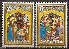 ANDORRA  Edifil # 87/88 ** MNH Set. Navidad / Christmas / Nöel