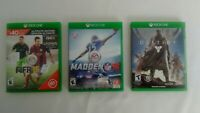 Xbox One- 3 Game Bundle Lot - FIFA 15 Ultimate Edition, Madden NFL 16,  Destiny