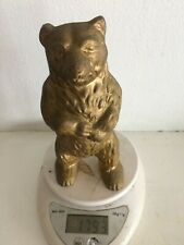 More details for heavy cast metal 1.8kg standing teddy bear old ornament 155mm tall