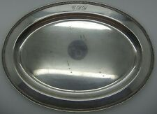 VINTAGE OVAL SILVER PLATED TRAY CIRCA 1950's